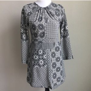 ZARA Trafaluc Long Sleeve Patchwork Mini Dress